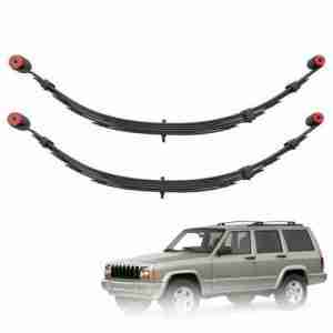 Pro Comp 53111 Rear 3.5 Lifted Leaf Springs 84-01 Jeep Cherokee XJ Set