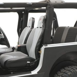 Smittybilt XRC Suspension Right Side Seat for 1976-2006 CJ7 / CJ8 Scrambler / Wrangler TJ / YJ - Gray on Black