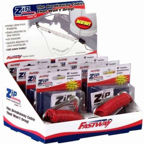 Fastway® 80-01-9214 Display Pack of 8 for 4' ZIP Breakaway Cable only