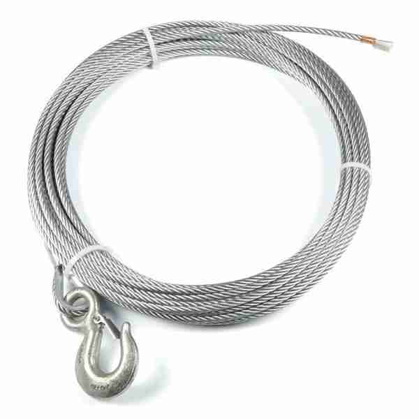 """Warn® 38309 Winch Cable & Hook 5/16"""" X 50' - 9,800 Lb"""