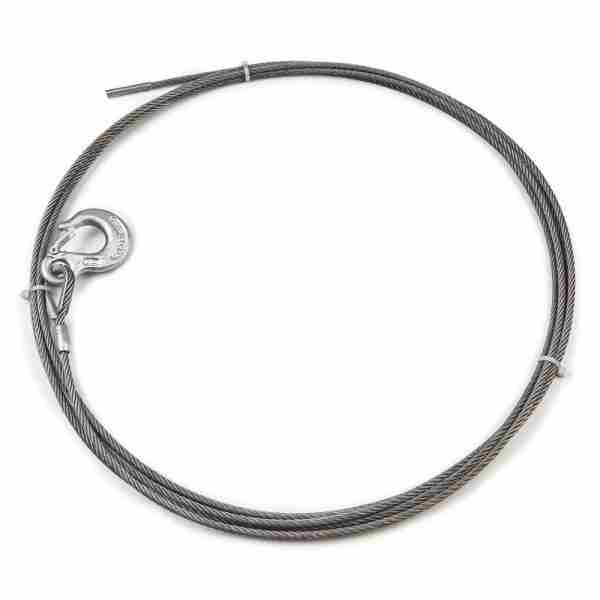"""Warn® 24890 Winch Cable & Hook 1/4"""" X 40' - 6,800 Lb"""
