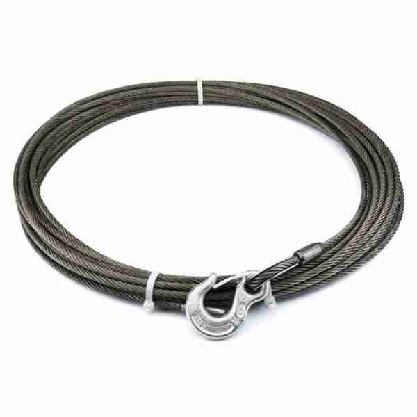 """Warn® 24893 Winch Cable & Hook 1/4"""" X 100' - 7,000 Lb"""