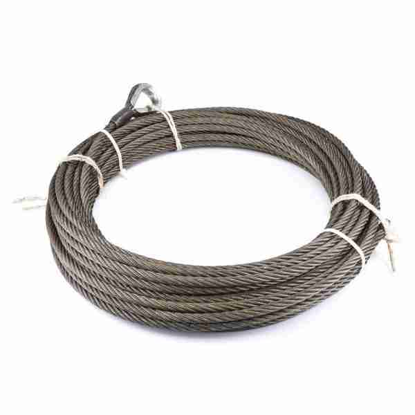 "Warn® 24896 Winch Cable & Hook 5/16"" X 25' - 10,540 Lb"
