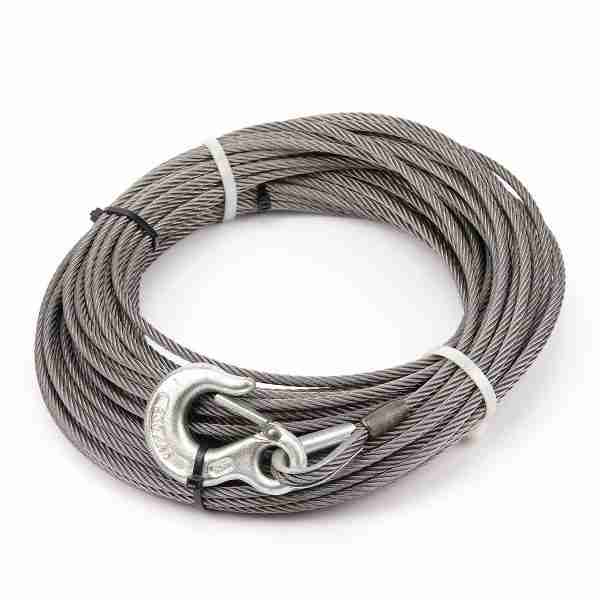 """Warn® 24889 Winch Cable & Hook 1/4"""" X 25' - 6,800 Lb"""