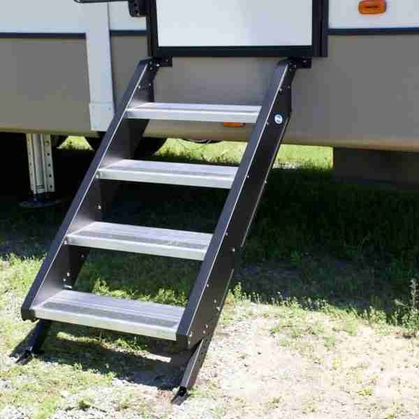 MORryde® STP54-011H Aluminum Silver Quick Connect 2 Entry Steps