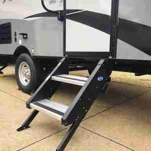 "MORryde® STP-2-27-01H StepAbove 2 Entry Steps for RV - 26"" to 28"" Door Width"