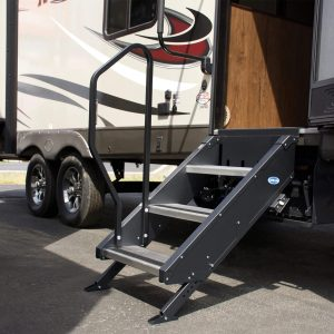 "MORryde® STP-3-30-03H StepAbove RV Entry Steps - 30""W x 30""-34""H"