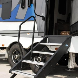 "MORryde® STP-4-32-04H StepAbove 4 Manual Flip Up RV Entry Step - 32""W x 39""-42""H"