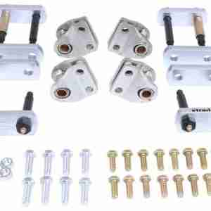 MORryde® LRE12-016 Shackle Upgrade Kit for Tandem Axle Trailers with LRE Leaf Spring Suspensions & Correct Track