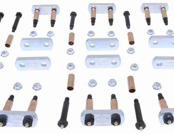 """MORryde® UO12-030 Shackle Upgrade Kit for Triple Axle Trailers with 2-1/4"""" Shackles & Correct Track"""