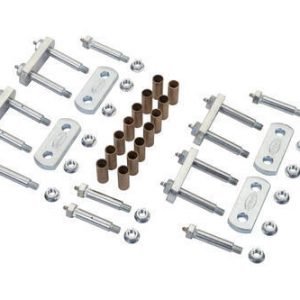 "MORryde® UO12-029 Shackle Upgrade Kit for Tandem Axle Trailers with 2-1/4"" Shackles & Correct Track"