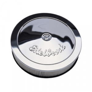 """Edelbrock 1207 Pro-Flo Chrome 14"""" Round Air Cleaner with 3"""" Paper Element"""