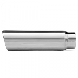 Dynomax 36477 304 Polished Stainless Steel Single Wall Exhaust Tip