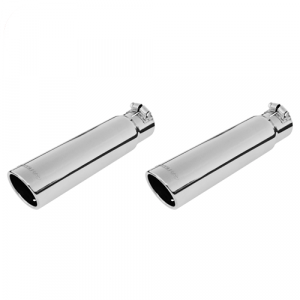 """Flowmaster 15361 Set of 2 Clamp-On Exhaust Tips, 3"""" Rolled Angle for 2.5"""" Pipe"""