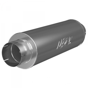 """MBRP M2220A Quiet Tone Muffler, 5"""" In/Out, 8"""" Dia. Body, 31"""" Overall, AL"""