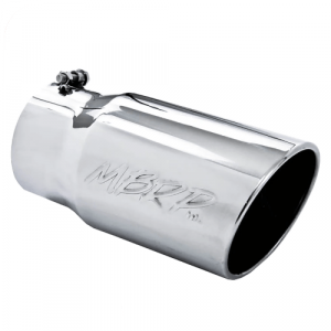 """MBRP T5075 Exhaust Tip, 6"""" O.D. Angled Rolled End 5"""" Inlet 12"""" Length, T304"""