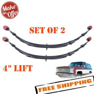 """Pro Comp 13311 Rear 4"""" Lifted Leaf Springs"""