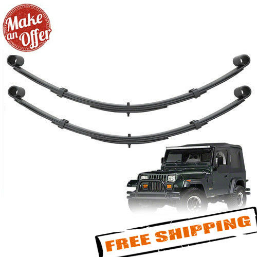 """Pro Comp 51413 Front 4"""" Lifted Leaf Springs - 1987-1995 Jeep Wrangler YJ - PAIR"""