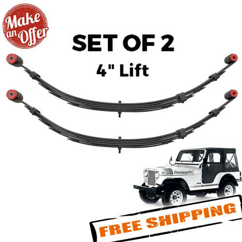 """Pro Comp 51412 Front 4"""" Lifted Leaf Springs for 1976-1986 Jeep CJ5 / CJ7 - PAIR"""