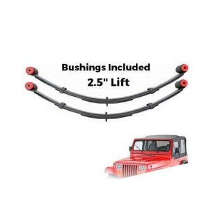 """Pro Comp 51313 Front 2.5"""" Lifted Leaf Springs w/Bushing 87-95 Wrangler YJ - PAIR"""