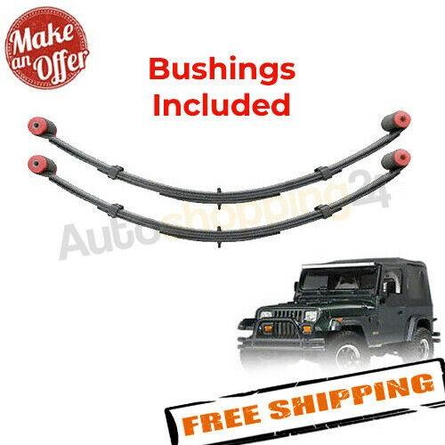 """Pro Comp 51423 Rear 4"""" Lifted Leaf Springs - 1987-1995 Jeep Wrangler (YJ) - PAIR"""