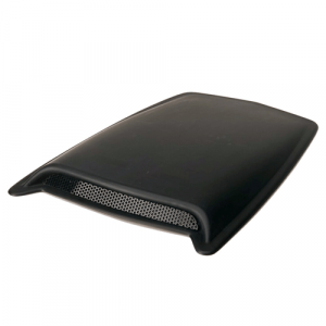 Auto Ventshade (AVS) 80004 Large Single Hood Scoop with Smooth Black Finish