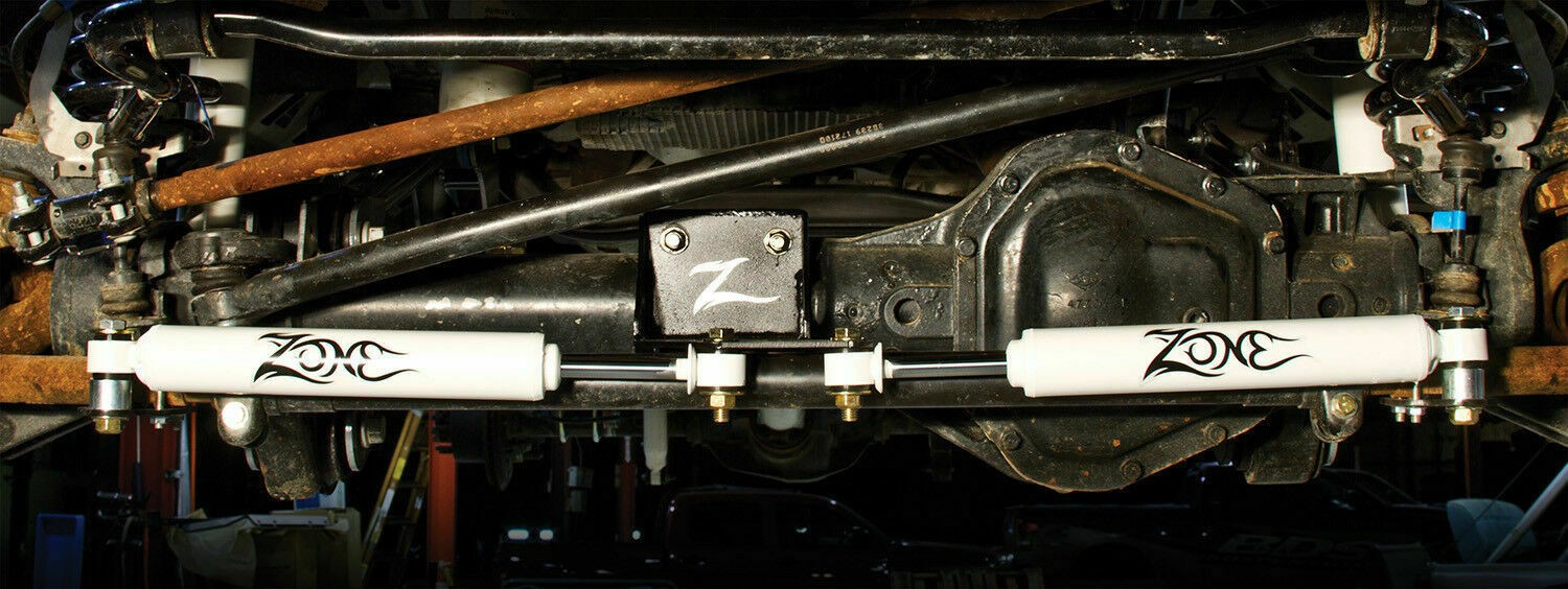 Zone Offroad 7350 Dual Steering Stabilizer - 2005-2018 Ford F250/F350 Super Duty