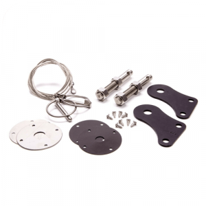 Drake Automotive S1MS-16892-SSK SS Hood Pin Kit for 2005-2009 Ford Mustang