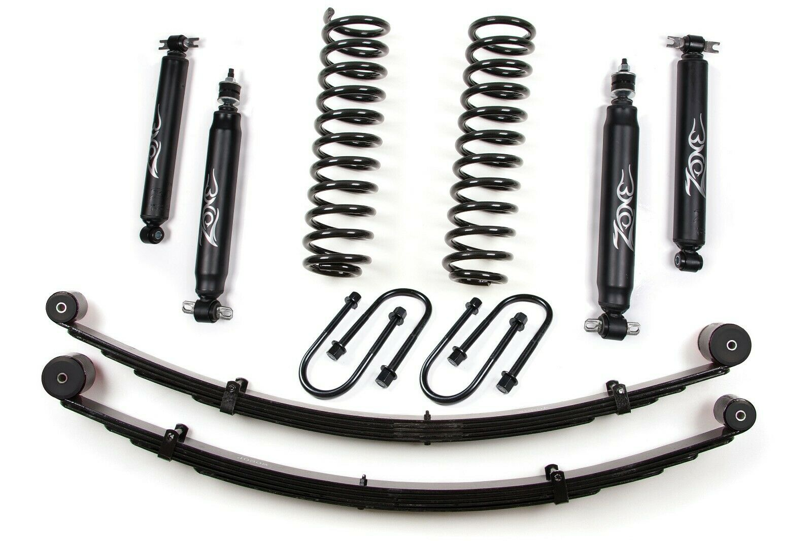 "Zone Offroad J21N 3"" Lift Kit w/Rear Springs for Jeep Cherokee XJ, Chrysler 8.25"