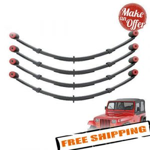 "Pro Comp Front & Rear 4"" Lifted Leaf Springs w/ Bushing - 1987-1995 Wrangler YJ"