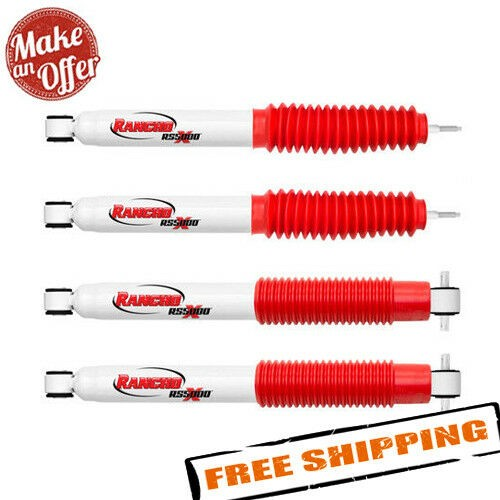 Rancho RS5000 Front & Rear Gas Shock Absorbers for 2007-2018 Jeep Wrangler JK