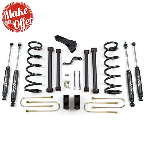 "Zone Offroad D11N 5"" Lift Suspension System For 08 Dodge Ram 25/3500 Nitro Shock"