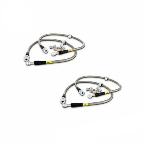 Stoptech Front & Rear Stainless Steel Braided Brake Lines for 05-14 Ford Mustang