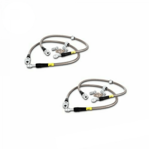 StopTech Set of 4 Front & Rear Stainless Steel Braided Brake Lines