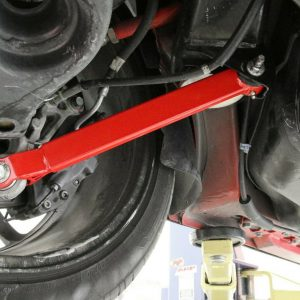 BMR LTA110 Red Lower Non-Adjustable Trailing Arms for 2006-2020 Dodge Challenger