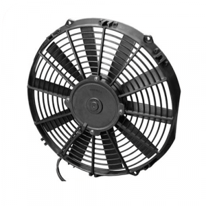 """SPAL 30100375 12.00"""" Low Profile Puller Fan with Straight Blades, 12V"""