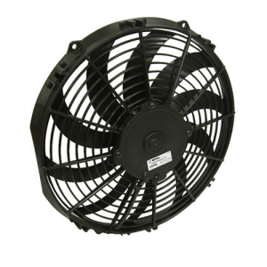 """SPAL 30100467 12"""" Low Profile Puller Electric Fan with Curved Blades"""