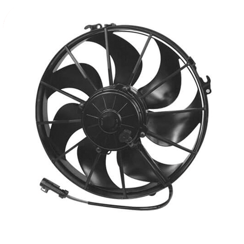 """SPAL 30103202 12.00"""" Extreme Performance Puller Fan with Curved Blades, 12V"""