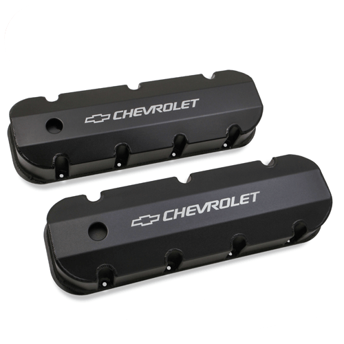 Holley 241-281 Black Aluminum Valve Covers for 1965-2000 Chevy 396-454 Big Block