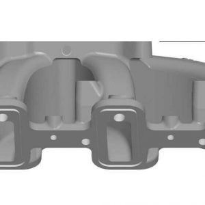 Holley 300-132 Mid Rise Satin Carbureted Cast Single Plane Intake Manifold
