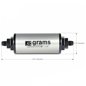 Grams Performance G60-99-0108 Fuel Filter - 100 Micron w/ -8 AN