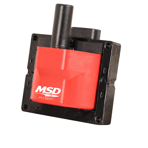 MSD Ignition 8231 Red Blaster Bolt-on Connector Ignition Coil