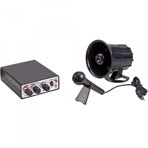 Wolo 345 Animal House Electronic Horn and P.A. System 50 Musical Tunes - 12 Volt