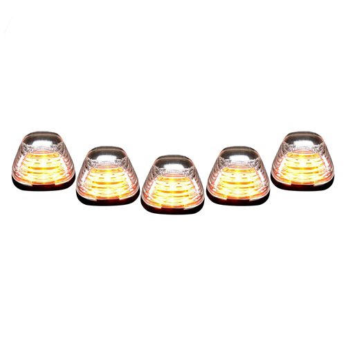 Recon 264143CL Clear Lens Cab Roof LED Lights Kit for 1999-2016 Ford Super Duty