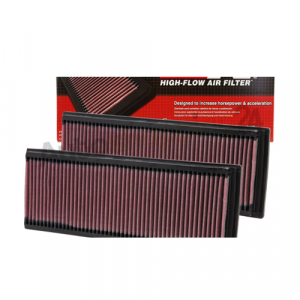 K&N 33-2181 Set of 2 Washable & Reusable High-Flow Panel Air Intake Filters