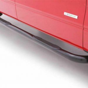 """Lund 23072754 Black Steel 3"""" Round Nerf Bars for 94-01 Dodge Ram Extended Cab"""