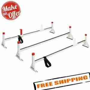 Weather Guard 216-3 Roof Mount Full-Size Steel Ladder Rack - 3 - Bars - White