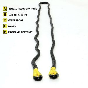 Smittybilt CC122 - Rated 30% Stretch 30 Foot Recoil Kinetic Rope - 60,000 lb.