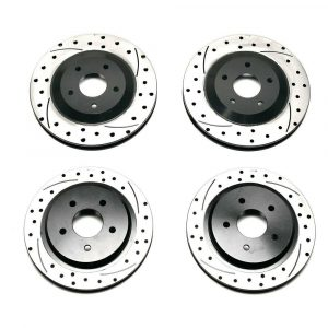 Wilwood SRP Dimpled & Slotted Promatrix Front & Rear Replacement Rotor Kit