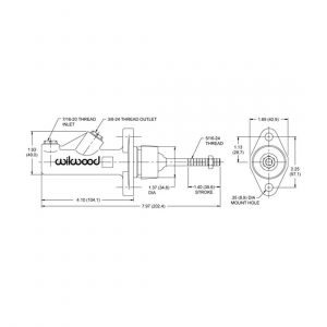 Wilwood 260-6089 Compact Remote Master Cylinder
